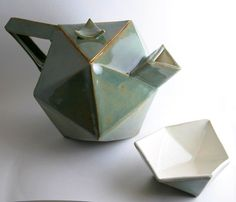Geometric Ceramic teapot