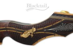 Hand-carved 'Falconry Theme' Legacy Series Blacktail Bow Company, LLC