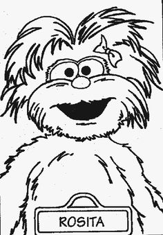 sesame street coloring pages - Bing Images Adult Coloring Book Pages, Free Printable Coloring Pages, Coloring Books, Kids Coloring, Coloring Sheets, Colouring, Sesame Street Coloring Pages, Cute Art Projects, Chalkboard Art Quotes