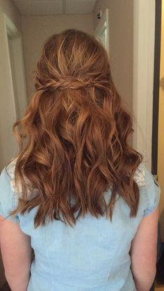 8th grade graduation hair.