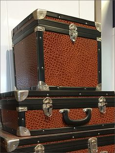 Louis Vuitton® props and Visual Merchandises with classic, hard-sided Valise and Luggage. Here Polo Ralph Lauren® caps and hats get similar support. The luggage, if antique, was in excellent condit… Ralph Lauren Cap, Suitcase, Louis Vuitton, Retail, Antiques, Hats, Classic, Antiquities, Derby