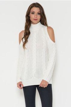 Could Shoulder Mock Neck Sweater