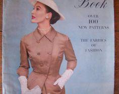 Vintage Vogue Pattern Book Spring 1951.Vintage Women's Dresses.Vintage 1950's…