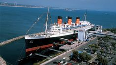 "A 1930s cruise liner that's docked in Long Beach, CA, the Queen Mary offers numerous ghost-hunting tours and paranormal investigations onboard for its guests. It became known as ""the haunted ship"" after numerous disasters, including a split hull that left few survivors."