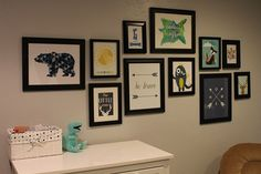 hang picture gallery wall boy's nursery