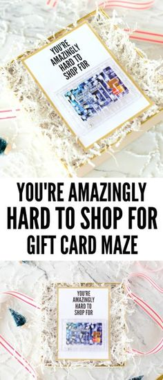 Make this DIY Gift Card Maze Printable for the hard person to shop for on your list! It's the perfect gift and will have both of you laughing!