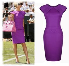 The same with Victoria dress 2015 new Slim Sexy ladies short sleeve purple dresses
