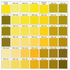 PANTONE. Yellow.