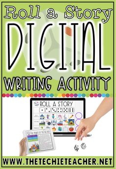 Roll a Story Digital Writing Activity in Google Slides puts a fun spin on creative writing. Grab this FREE download and learn more in this post! Cool Writing, Kids Writing, Creative Writing, Writing Poetry, Writing Quotes, Writing Ideas, Writing Inspiration, Fun Writing Activities, Writing Lessons