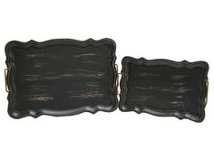 Black Weathered Trays with Curved Edges | Shop Hobby Lobby