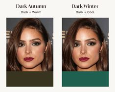 Deep Autumn Color Palette, Soft Summer Palette, Deep Winter Colors, Autumn Colours, Neutral Skin Tone, Colors For Skin Tone, Dark Autumn, Dark Winter, Deep Autumn Makeup