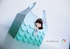 Sirena Gable cajas personalizadas En la por PartyFavorsPlace