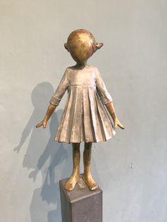 Bronze sculpture / brons made by Babke Moelee Sculpture, Lens Flare, Characters, Kunst, Sculptures, Sculpting, Statue, Carving