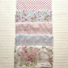 Shabby Chic Cotton And Minky Baby Burp Cloth by RobinsLullaby