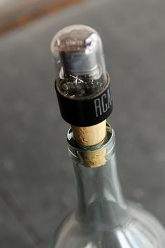 Wine Stopper from Vintage Radio Tube by Relectronics on Etsy, $17.50