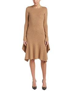 BCBGMax Azria Women's Knit Casual Ribbed Dress, Camel, M