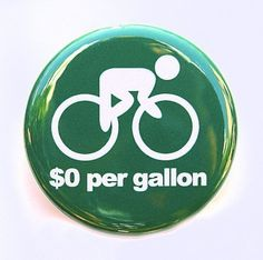 Ride A Bike  Button Pinback Badge 1 1/2 inch 15 by theangryrobot, $1.50