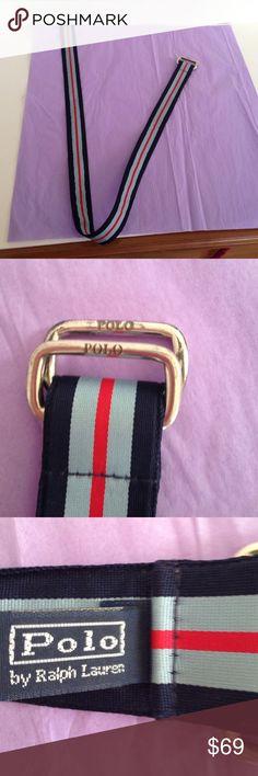 d2cf67a67dca Polo Ralph Lauren men s grosgrain ribbon belt Ralph Lauren Polo grosgrain  ribbon striped belt hardware tarnished grosgrain ribbon no stains Ralph  Lauren ...