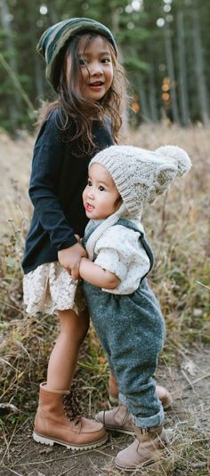 Babies in boots and beanies! Is there anything cuter?