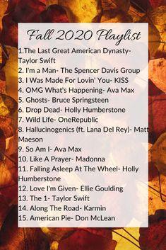 Fall 2020 Playlist - A Peaceful Peach