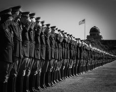 """The 2013 version of the famous """"Boot Line"""" photo taken during WWII. This version was taken last weekend with the Corps of Cadets Class of 2013 on Simpson Drill Field. A classic re-make of a wonderful piece of Corps of Cadets history!"""