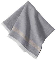 Caravan Laundered Linen Napkins - Grey/Natural