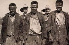 The caption says that these are captured African spies near Waterval, Standerton.13094221_1722589381352886_8237553866961158334_n.jpg 564×370 pixels