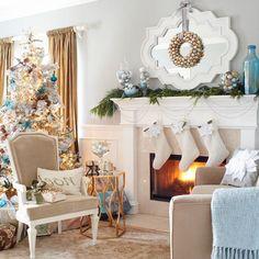Schone Weihnachten Wohnzimmer Verwandeln Sie Ihr Neutrales In Ein Winterwunderland Mit Paar Bunten Elementen