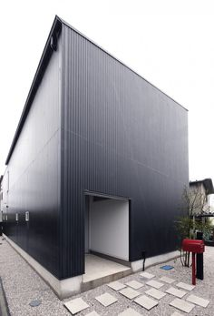 Image 1 of 14 from gallery of Hachiouji House / Krew Architects. Courtesy of Krew Architects Architecture Awards, Residential Architecture, Interior Architecture, Black Building, Building A House, Steel Frame House, Backyard Studio, Interesting Buildings, Amazing Spaces