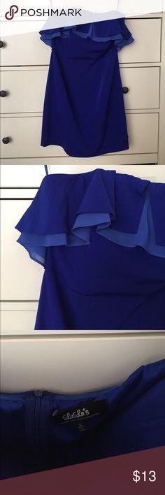 New Lulu's strapless ruffled dress New Lulus strapless ruffled dress, no tags but never worn Lulu's Dresses Strapless