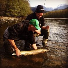 Fishwest Pro Pat Beahen with a BC steelhead