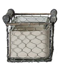Another great find on #zulily! Square Wire Basket - Set of Two #zulilyfinds