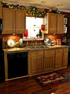 Far Above Rubies: Christmas Kitchen... (lights above cabinets)