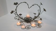 Heart with candles