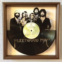 "LP Vinyl Art - Fleetwood Mac - Hand cut from their record album ""Rumours"" - framed cut out art collectible gift"