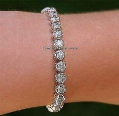 3ead694e06465f 8.00 CT Round-Diamond Tennis Bracelet 7