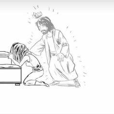 God Loves Me, Jesus Loves, Christian Art, Christian Quotes, Bible Art, Bible Verses, Jesus Cartoon, Jesus Drawings, Jesus Artwork