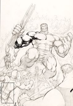 Dale Keown - The Incredible Hulk #369 Unpublished Alternate Cover Variant
