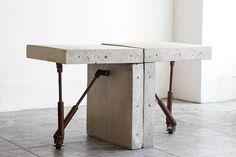 Cast Concrete Display Tables
