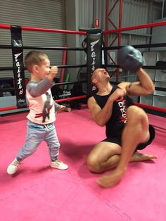 Never too young to start boxing. All strike head from Quest Training