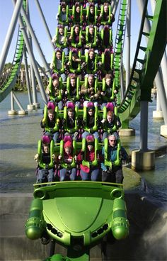 The Incredible Hulk Coaster at Universal's Islands of Adventure in Orlando, Fla.