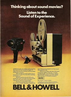 """vintagelounge: """" Bell & Howell. Ad from Playboy, November 1976. """""""