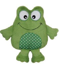 Peluche bouillotte grenouille Snuggle me chez doudou-Shop.com