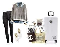 """""""I Want to Travel"""" by silenceisgold ❤ liked on Polyvore featuring MICHAEL Michael Kors, H&M, Herschel Supply Co., Yves Saint Laurent, Chanel, L:A Bruket and Steven Alan"""