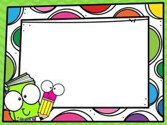 School Scrapbook Layouts, Scrapbook Frames, School Cartoon, Cartoon Kids, Wallpaper Powerpoint, School Border, Ideas Aniversario, Frame Layout, School Images