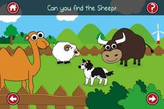 Best FREE apps for kids for iPhone - Appysmarts list Free Apps For Iphone, Best Free Apps, Kids Computer, Free Website, Early Learning, Farm Animals, Activities For Kids, Vibrant Colors, Preschool