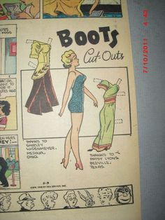 5-9-48 Boots paper doll / eBay