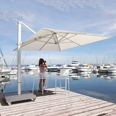Skyline Kingston Cantilever Parasol ($5,765) ❤ liked on Polyvore featuring home, outdoors, patio umbrellas, brown, tilt patio umbrella, outdoor cantilever umbrella, cantilever patio umbrella, square patio umbrella and garden umbrella