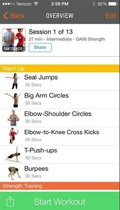 gain fitness app builds a workout routine and acts like your personal trainer #exercise
