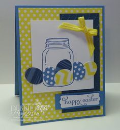 Stampin' Up! Perfectly Preserved for Easter eggs by Debbie Henderson, Debbie's Designs.